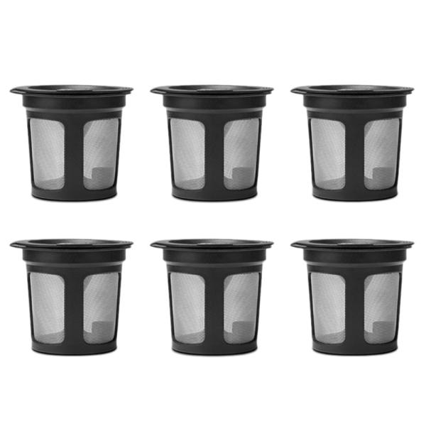 6Pcs Reusable Refillable K-Cup Coffee Filter Pod For Keurig K50&K55 Coffee Maker