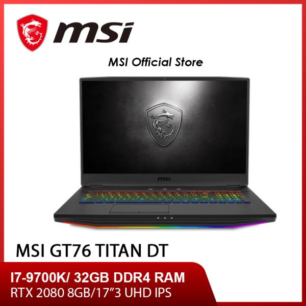 MSI GT76 TItan DT 9SG Gaming Laptop (I7-9700K/32GB Ram/1TB SSD+1TB HDD /8GB NVIDIA RTX2080 GDDR6 /17.3UHD 4K /W10) - 9SG-205SG (2Y)