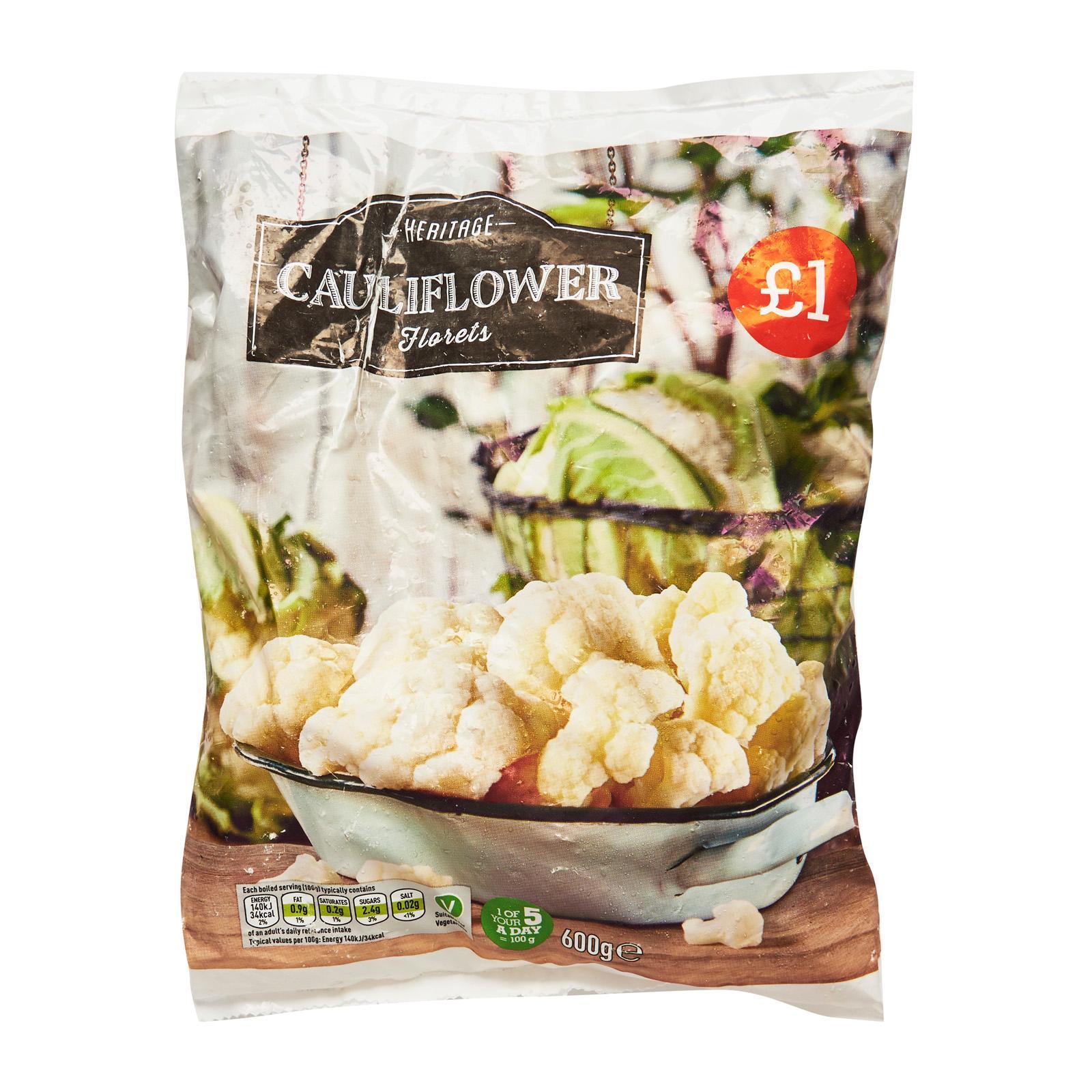 Heritage Cauliflower Florets - Frozen