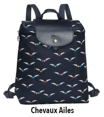 1bf7c8f1e581 Longchamp Le Pliage Club 1699 Backpack - Chevaux Ailes