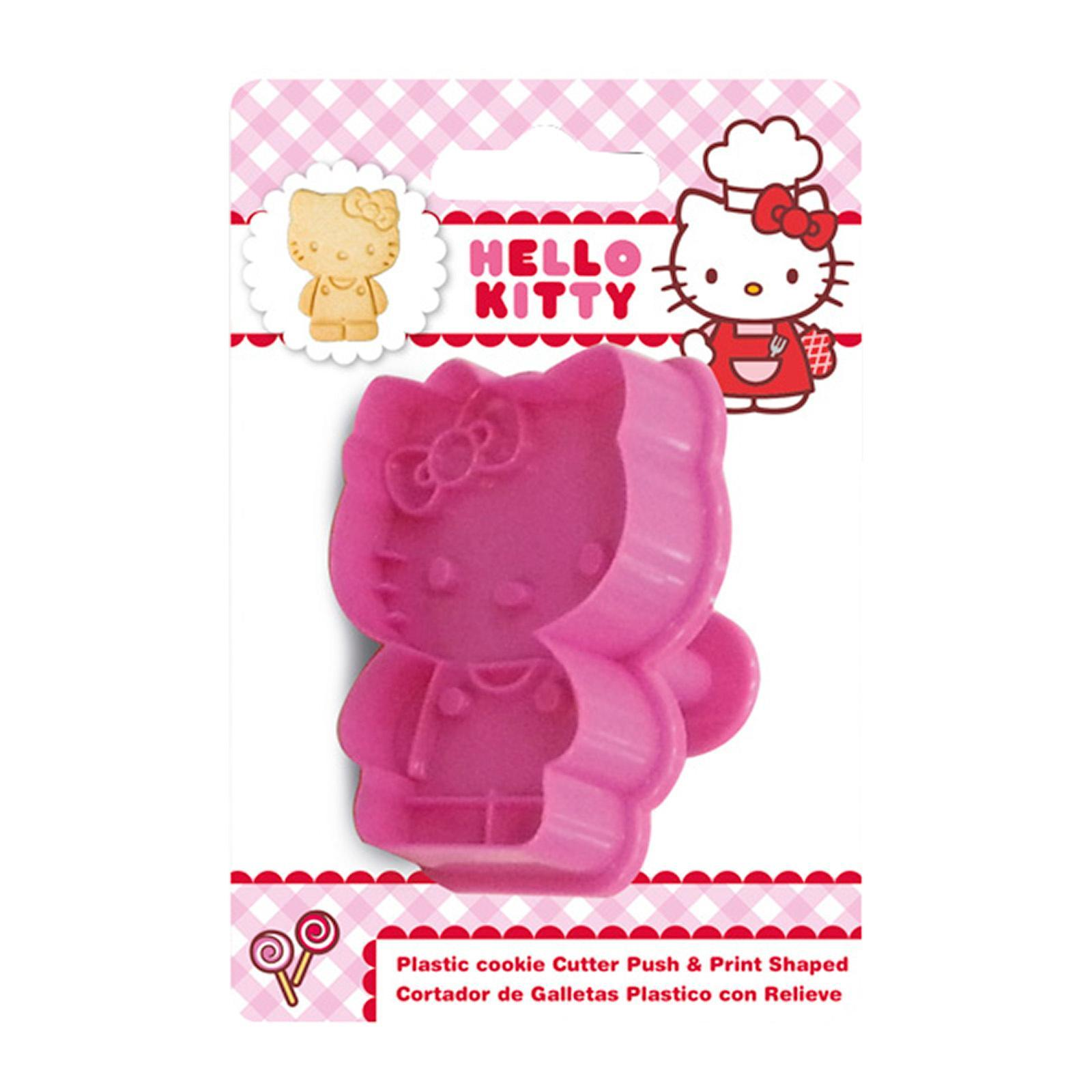 Sanrio Genuine Hello Kitty Body Shaped Baking-Plastic Cutter
