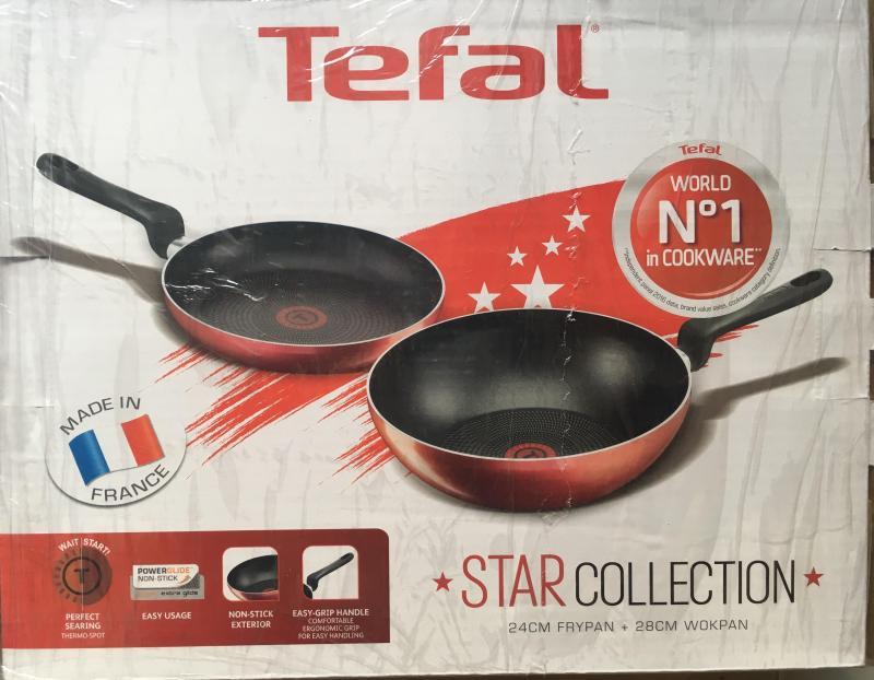 Tefal 24cm Fry Pan + 28cm Wok Pan Singapore