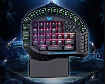 Control One-Handed Keyboard Keyclick Mixed Light Game Machinery Internet Bar Computer Wired Mouse And Keyboard Singapore