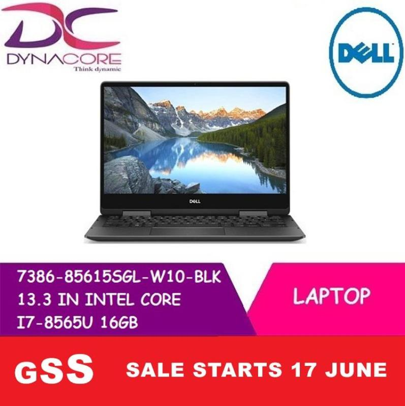 DELL 7386 85615SGL W10-BLK 13.3 IN INTEL CORE I7-8565U 16GB 512GB SSD WIN 10