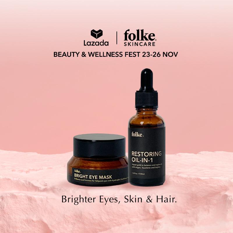 Buy Folke Skincare Eye, Skin and Hair Brightening Combo Singapore