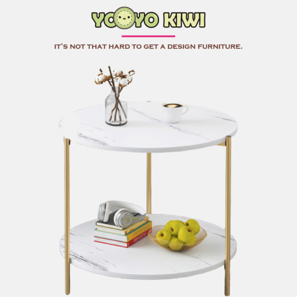 YOYO KIWI Coffee Table Round Upgraded Version Beside Sofa for Living Room