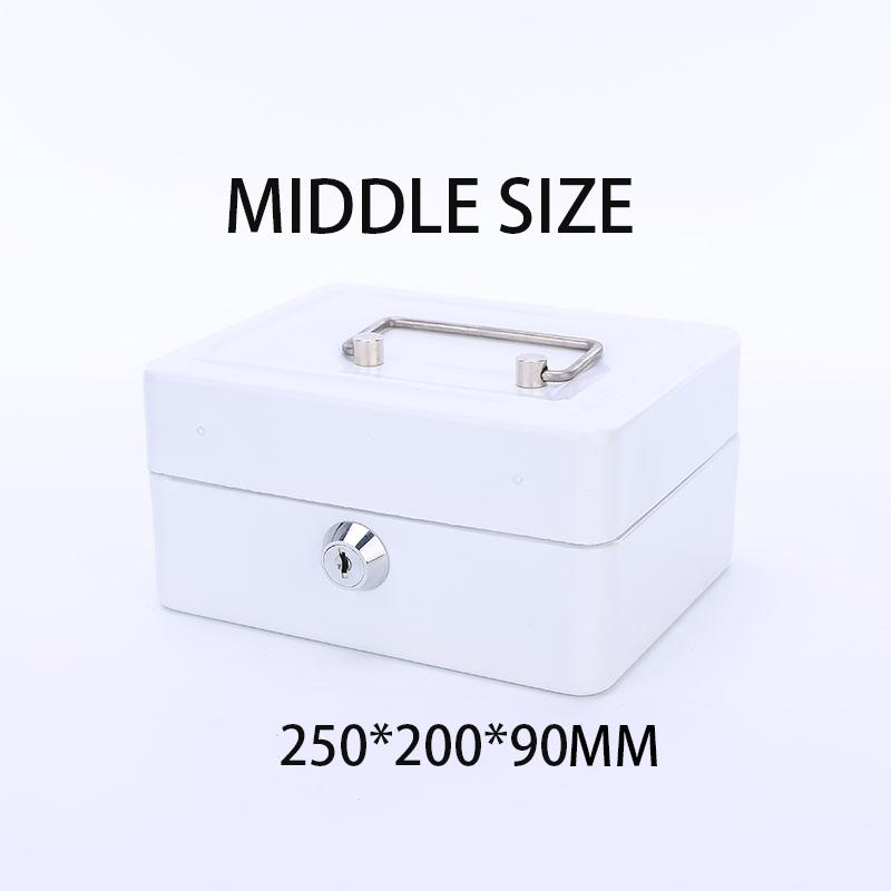 The MIDDEL Stainless Steel Petty Cash Money Box Security Lock Lockable Metal Safe Small Fit For Home -intl