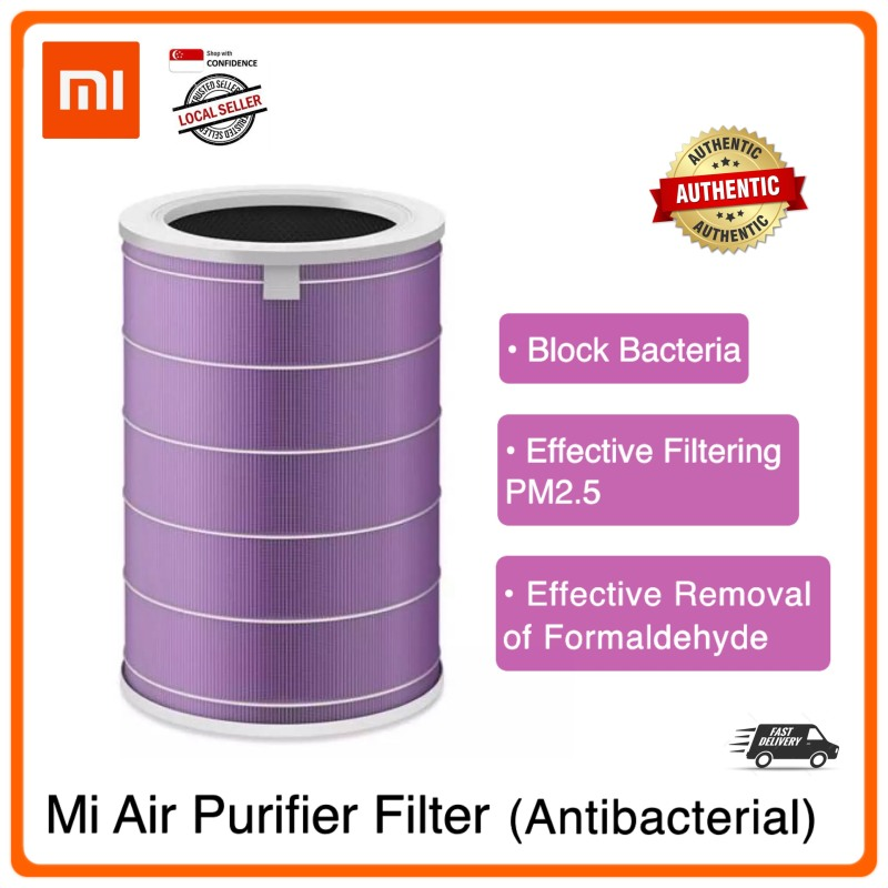 Xiaomi Mi Air Purifier Filter [ANTIBACTERIAL] | Effectively eliminates bacteria | PM2.5 | Dust Mites |  Easy to install | Compatible with all Mi Air Purifier 2 / 2S / 2H / 3C / 3H & Pro Singapore