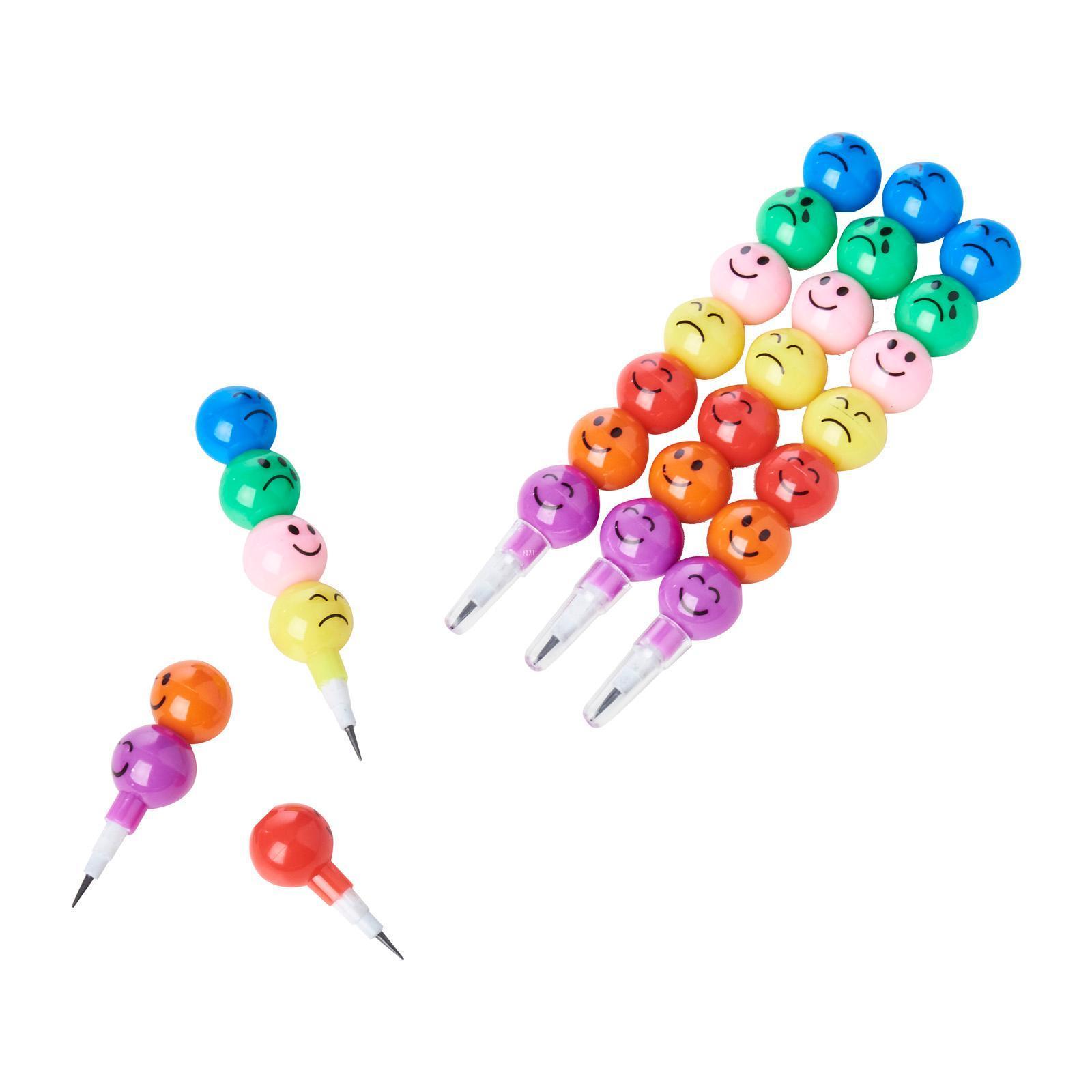 CGS Interchangeble Smiley Face Pencil (4pcs)