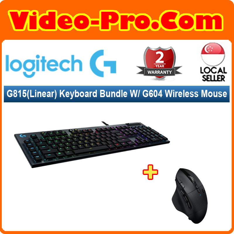 [Valentine 2-in-1 Bundle] Logitech G815 (Linear) Keyboard (920-009223) Bundle With G604 Lightspeed Wireless Mouse (910-005651) Singapore