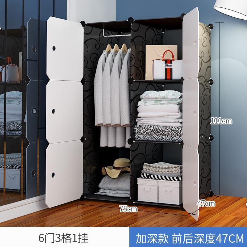 Easy Assembly Plastic Closet Clothes Storage Shelf