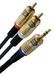 Daiyo 3 5Mm Stereo Plug To 2 X Rca Plugs Ta 5504 2 0M Shopping