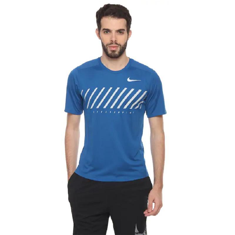 5f49e43f215621 Nike AS Dry Miler Short Sleeve Top - Men (Blue) 856881-433