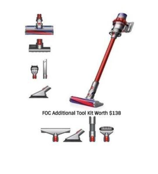 Dyson Cyclone V10 Absolute Cordfree Vacuum Cleaner + Free Additional Tool Kit Singapore