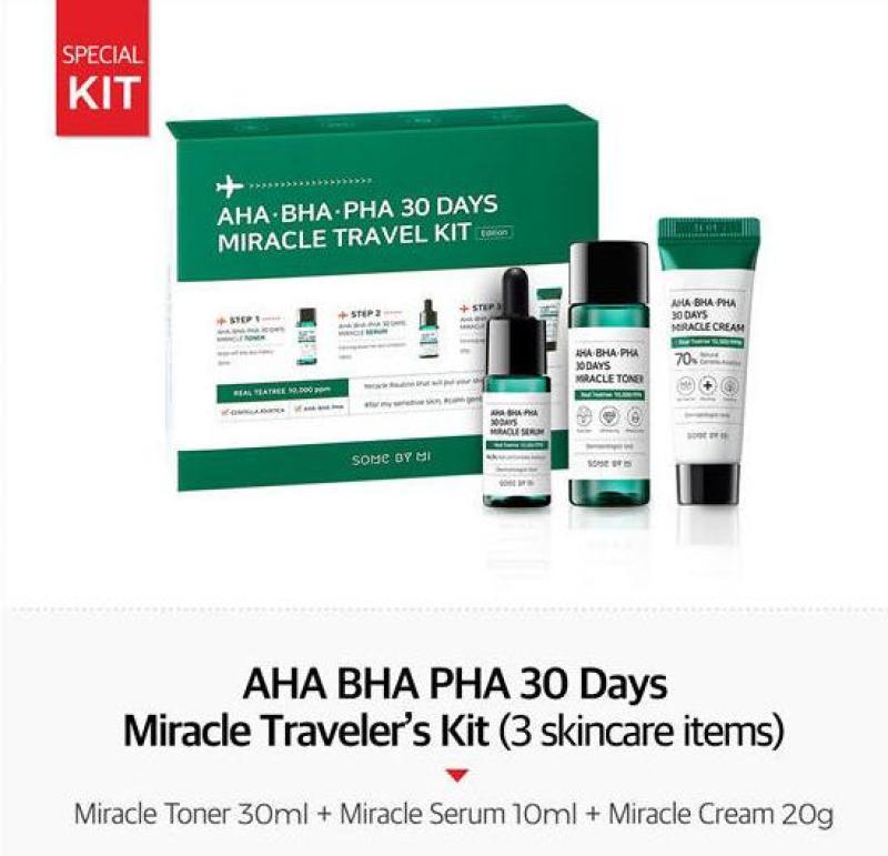 Buy [SOMEBYMI]SOME BY MI - AHA, BHA, PHA 30 Days Miracle Travel Kit Singapore