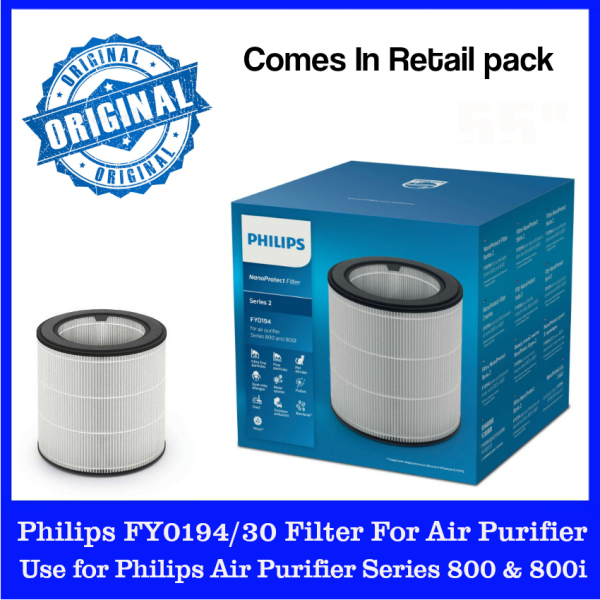 Philips FY0194/30 Filter for Philips Air Purifiers. NanoProtect Filter Series 2. Captures 99.5% 0.003um particles. Up to 12 months lifetime. 100% Original. 100% Singapore Stock. Express Ship Out. Buy With Confidence. Singapore