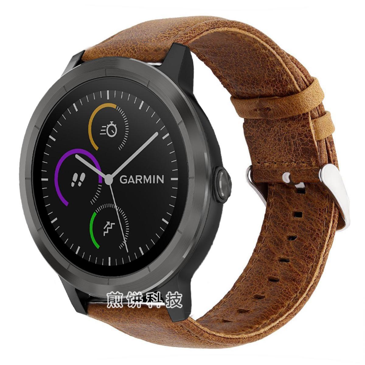 Garmin garmin Vivoactive 3 Music Music Edition Jam Tangan Crazy Horse pola Tali jam tangan Baur