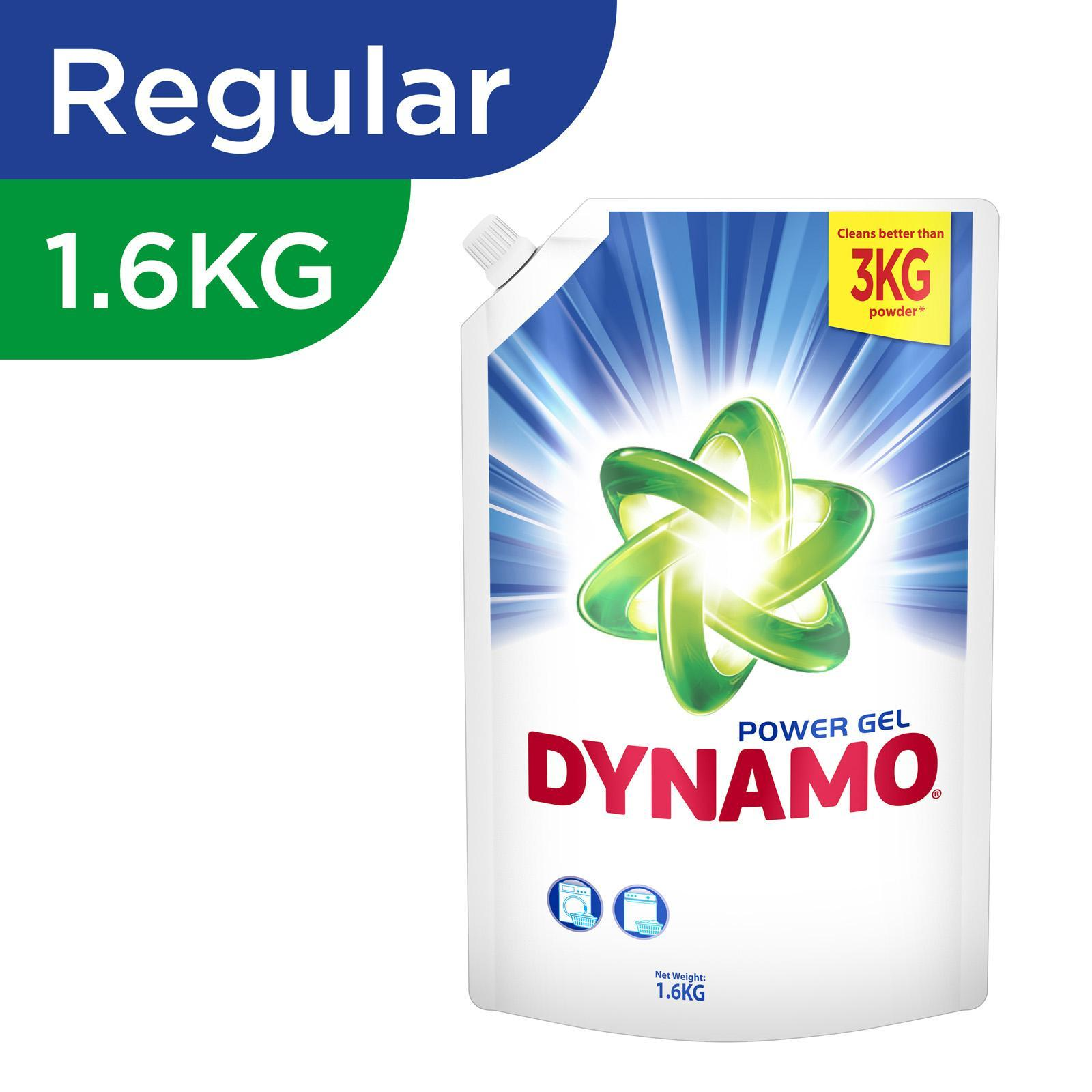 Dynamo Power Gel Regular Laundry Detergent Refill 1.6KG