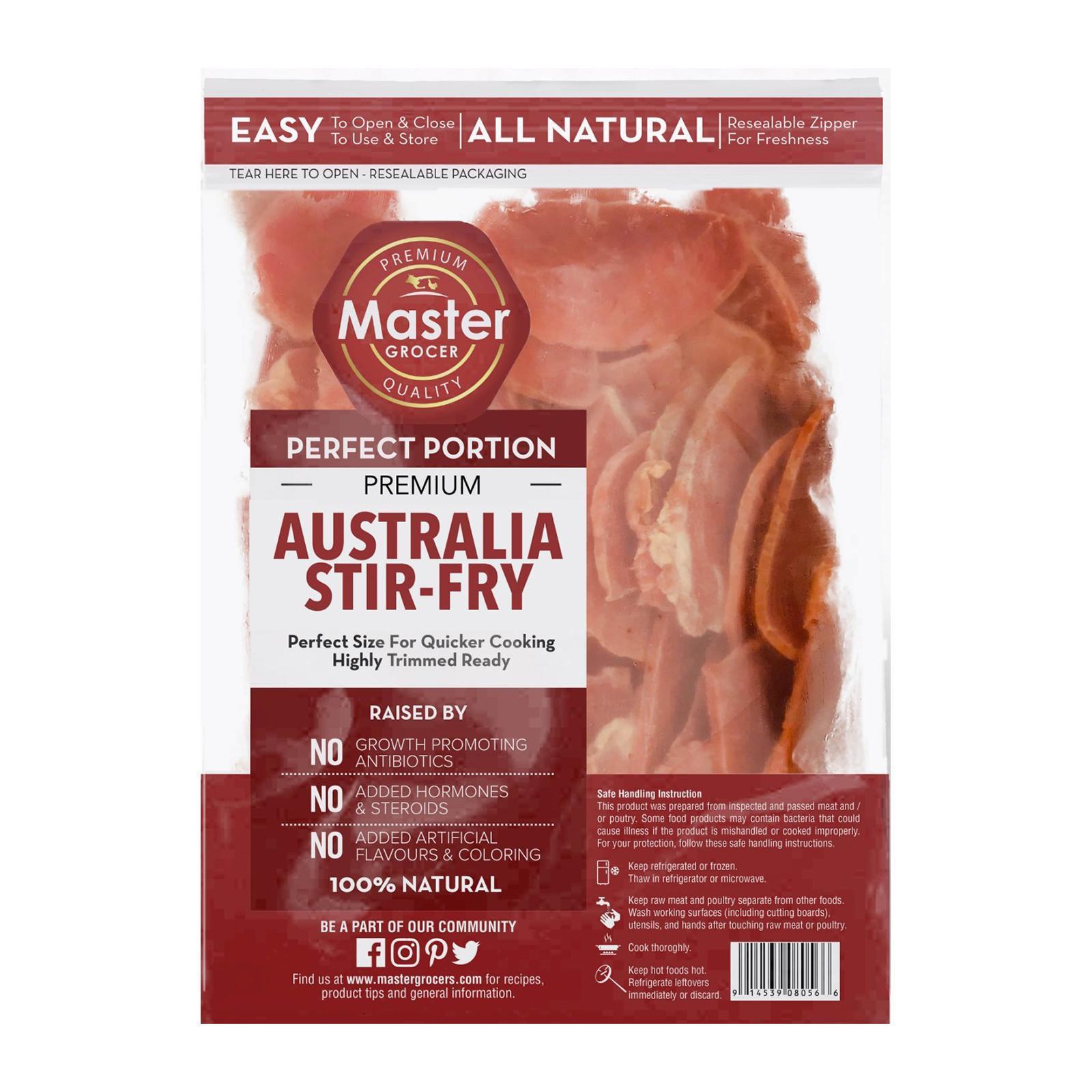 Master Grocer Australia Premium Beef Stir Fry - Frozen