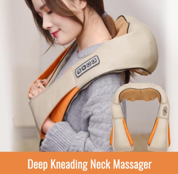Buy Deep kneading Neck Massager / Back Massage / 4 Heads Kneading / Shoulder Waist Body Massager / mother's day gift Singapore