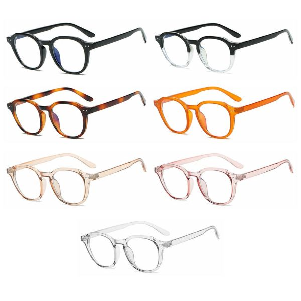 Giá bán ZIPPERSTORE15E7 Transparent Reading/Gaming Anti Eye Eyestrain Round Blue Light Blocking Glasses Anti Blue Light Computer Game Glasses for Men and Women