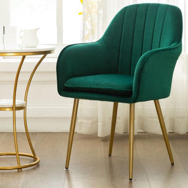 Luxury Velvet Dining Chair with Golden Legs