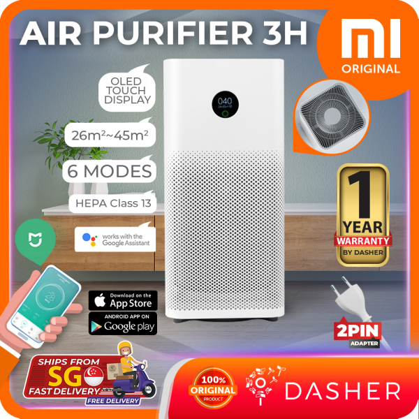 [ENGLISH] Xiaomi Smart Air Purifier Pro & Purifier 3H & Filter -Purifier  PRO Purifier 3H Mi Smart Home OLED Screen Display HEPA Filter with Local 2pin Plug Singapore