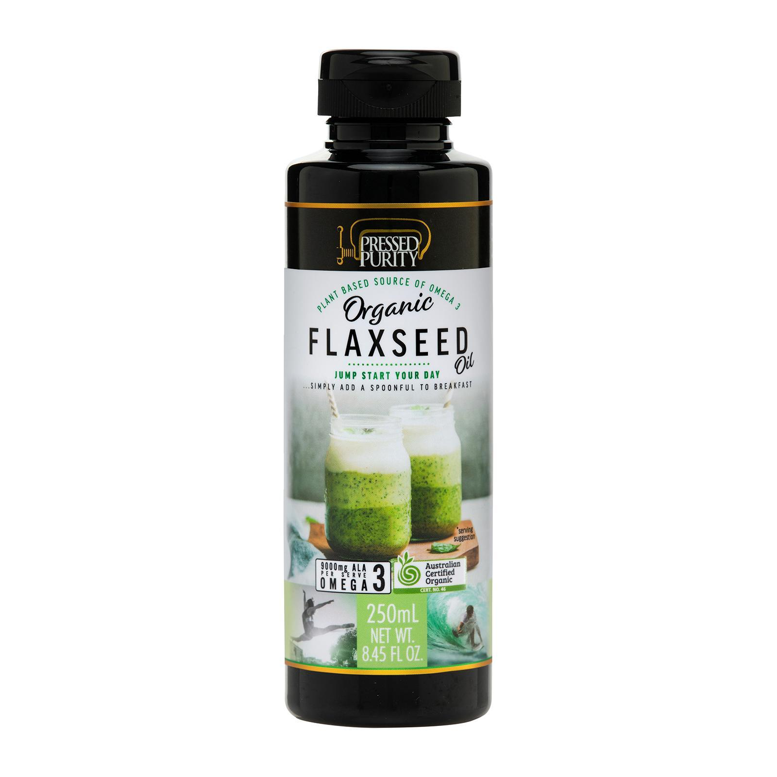 Pressed Purity Unrefined Extra Virgin Organic Flaxseed Oil