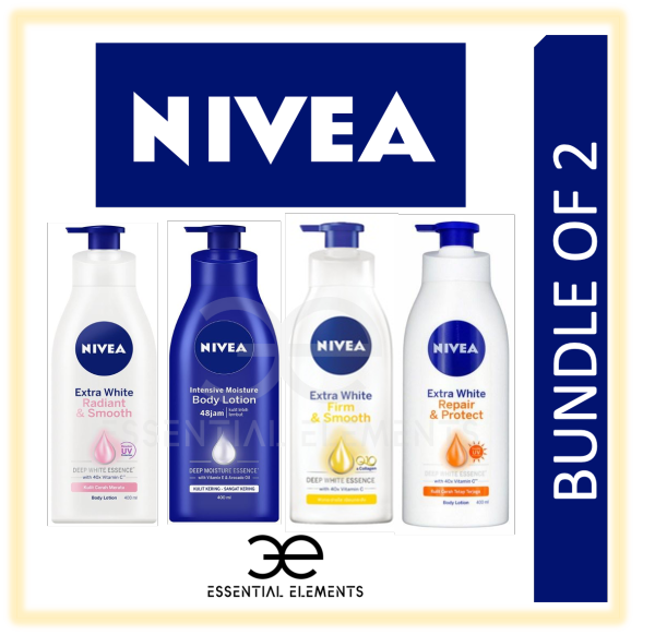 Buy NIVEA [BUNDLE OF 2] BODY LOTION|Extra White Radiant Smooth Skin Cream|Intensive Moisture|UV|Repair Protect Dry Skin Singapore