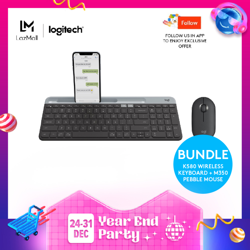Logitech K580 Slim Wireless Multi-Device Keyboard Singapore