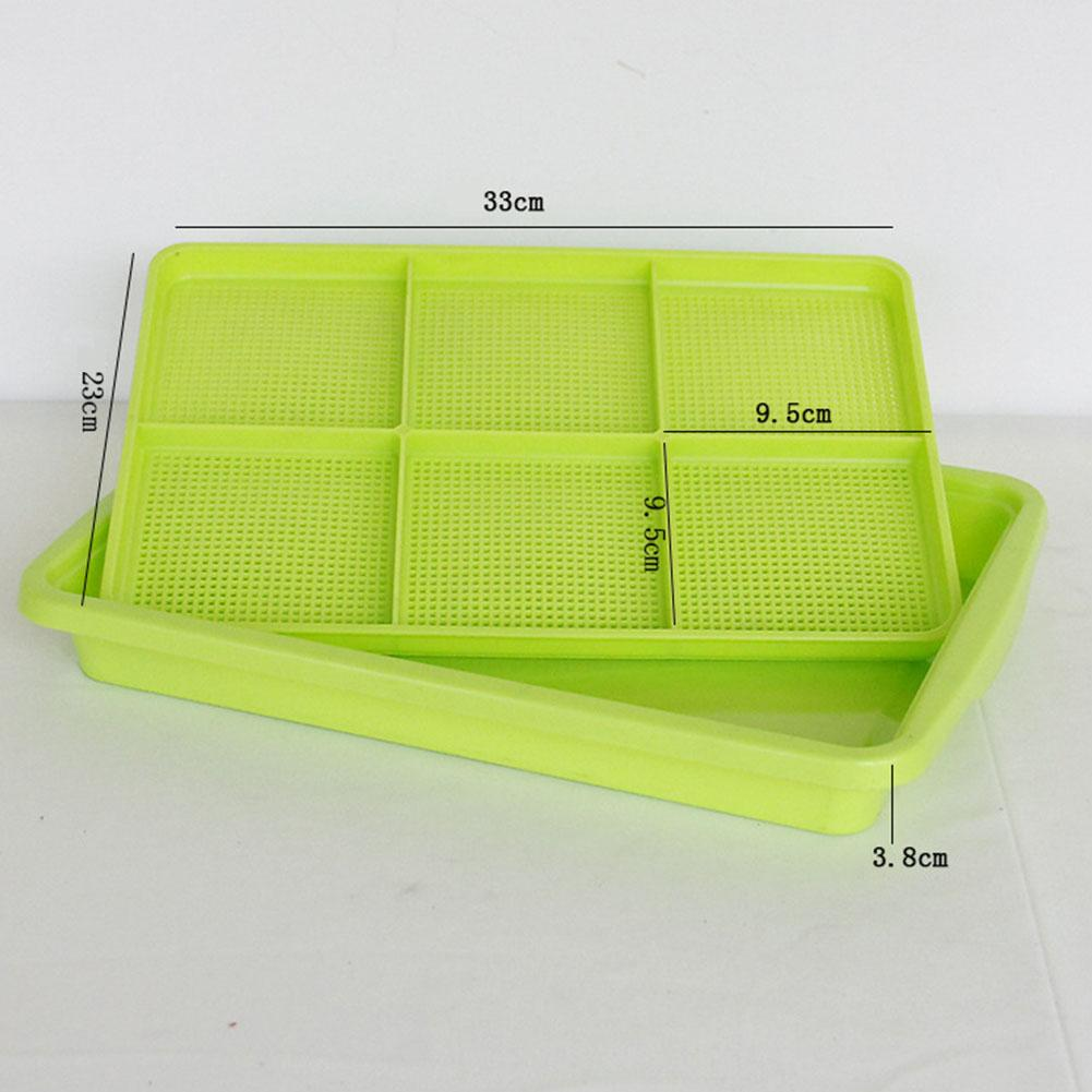OUTOP Hydroponics Seed Germination Tray For Sprouting Vegetable Wheatgrass Seedling Random Color