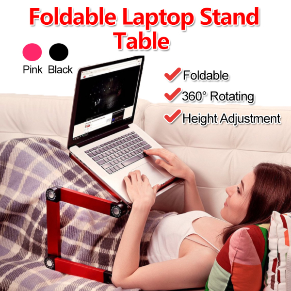【SG Ready Stock】Home Office Laptop Rack Adjustable 360 Rotation Laptop Table Laptop Computer Desk Portable Stand