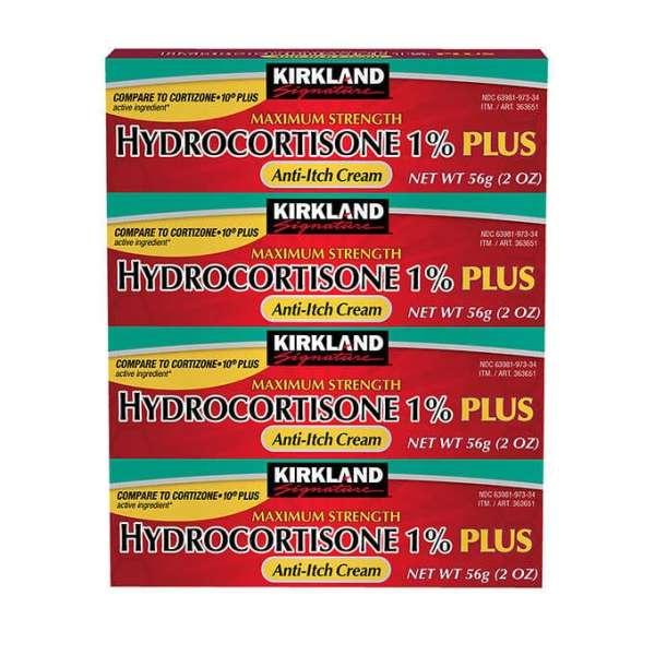 Buy Kirkland Signature Maximum Strength Hydrocortisone Cream 1% with Aloe, 2-ounce (pack of 4) Singapore