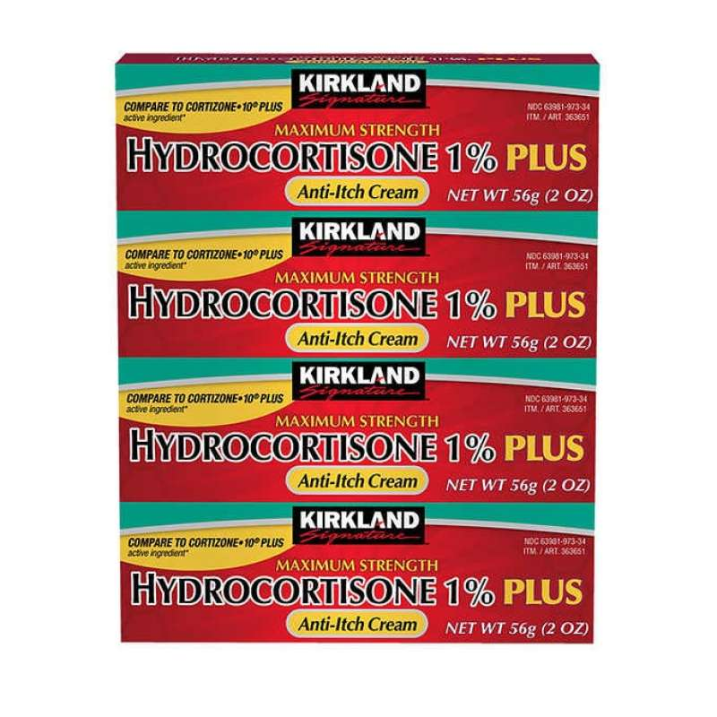 Buy Kirkland Signature Maximum Strength Hydrocortisone Cream 1% with Aloe, 2-ounce (pack of 4) Singapore
