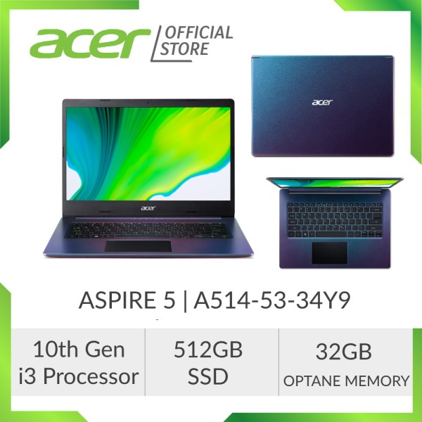 [PRE-ORDER] Acer Aspire 5 A514-53-34Y9 Laptop - 14 DISPLAY / 10TH GEN I3 PROCESSOR / 512GB SSD / 32GB OPTANE MEMORY [SHIP OUT EARLY JULY]