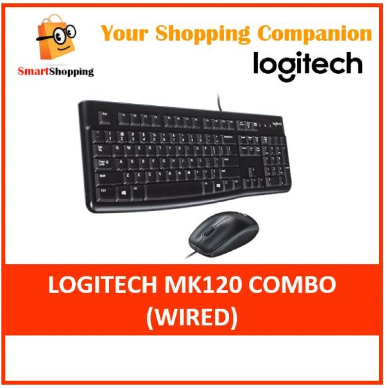 (Original) Logitech MK120 Wired Simplicity USB Keyboard and mouse combo Singapore