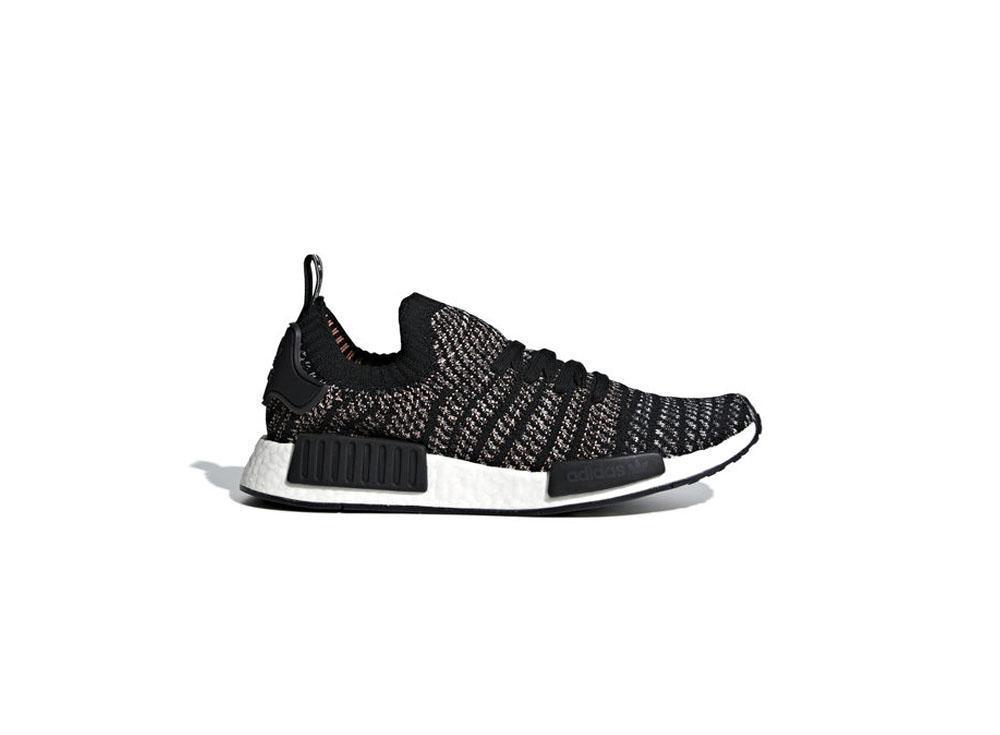 Adidass Originals NMD_R1 STLT Primeknit Mens B37636 Core Black / Grey / Grey