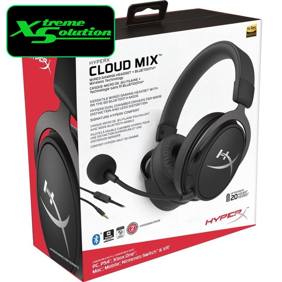 Kingston HyperX Cloud MIX Wired Gaming Headset + Bluetooth (Black / Rose Gold)