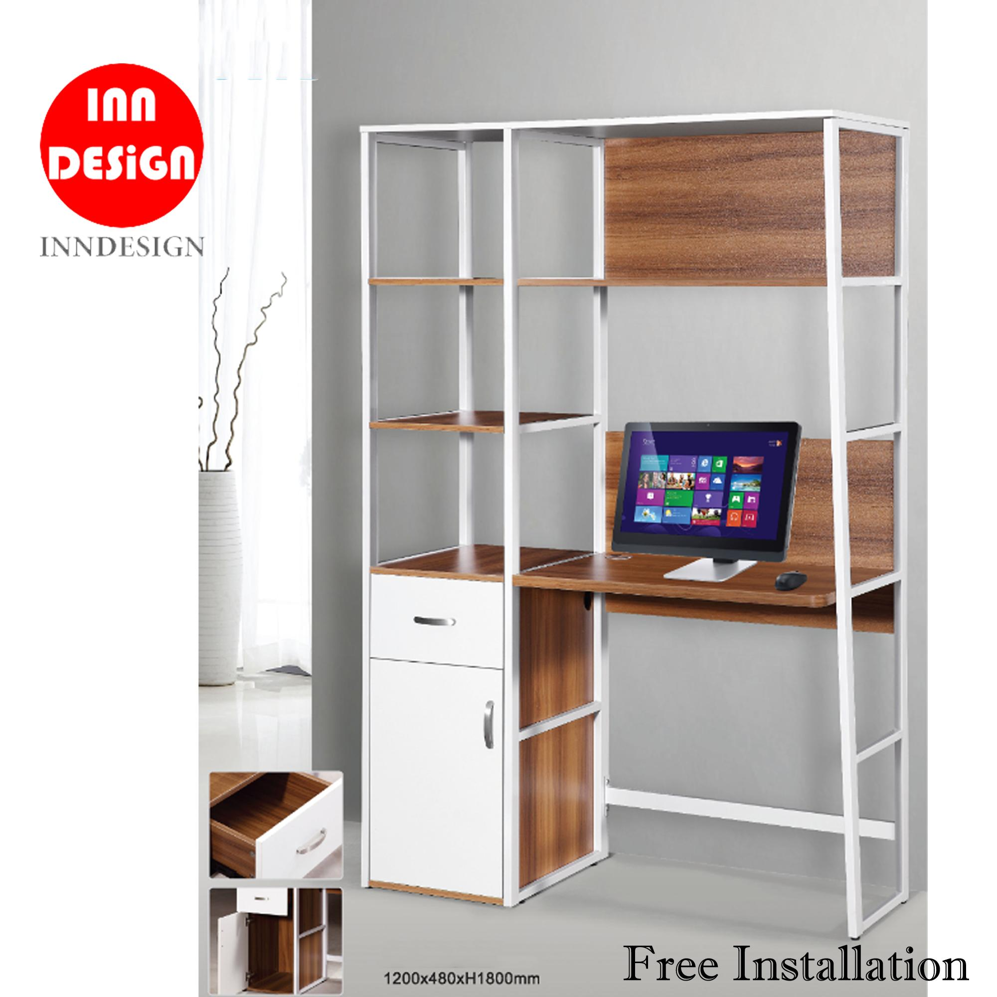 Mike Study Table / Study Desk with Bookshelf (Free Installation)