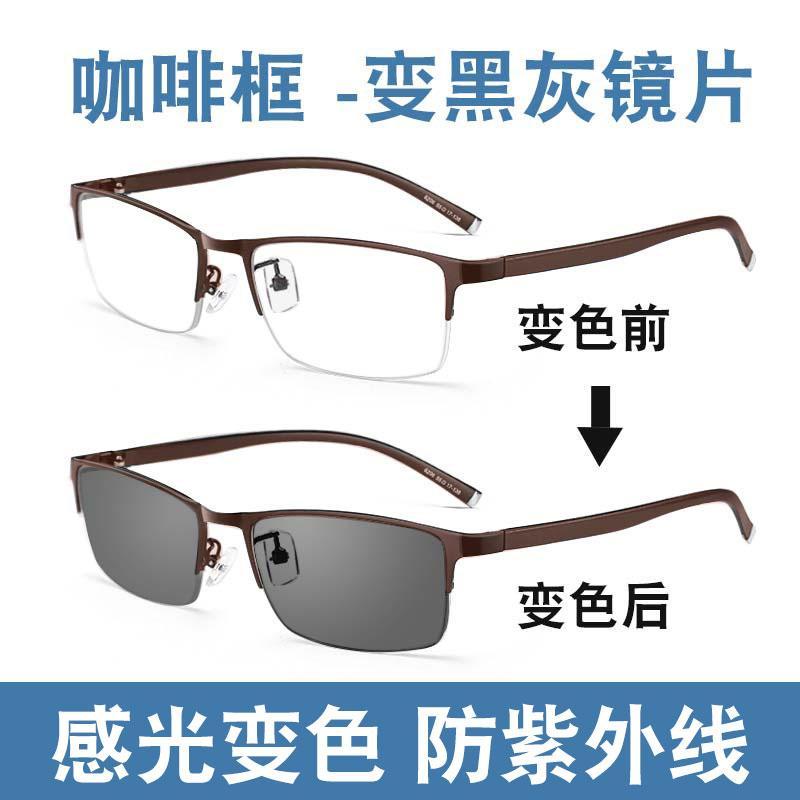 534ba252772f Sensitive Color Changeable SUN Glasses Male Myopia Glasses Have Alcohol by  Volume Anti-Blueray Radiation