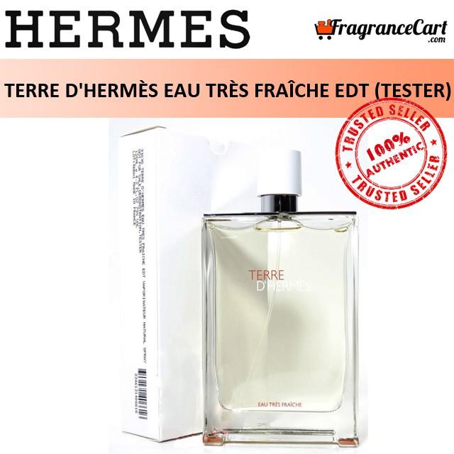 Hermes Terre Dhermes Eau Tres Fraiche Edt For Men (75ml Tester) Dhermes Eau De Toilette White [brand New 100% Authentic Perfume/fragrance].