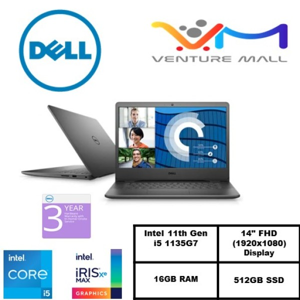 *NEW* 11th Gen READY STOCK Dell Vostro 14 3400 Laptop /Intel i5-1135G7/16GB RAM/512GB SSD/Win 10 Pro