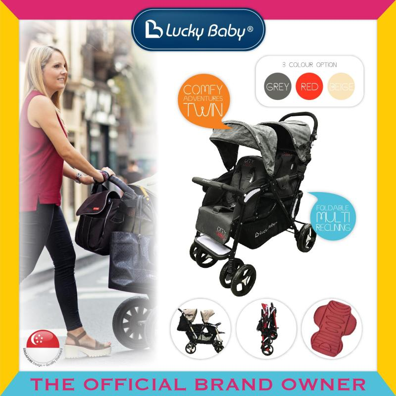 Lucky Baby® 516478 / 516461 / 516485 City Duo Twin Baby Stroller Singapore