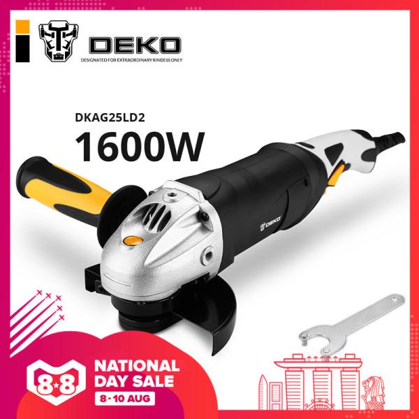 DEKO 220V 1600W Electric Angle Grinder Angular Power Tool Working For Grinding Cutting Grinding Metal Wood