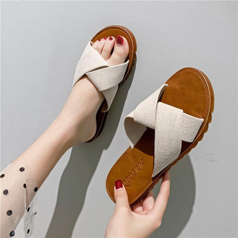 Womens Cotton Foam Slippers Cotton Slippers Female Home Non-Slip Autumn and Winter Warm Indoor Cute Wearing Thick Bottom Wedge with PU Surface,