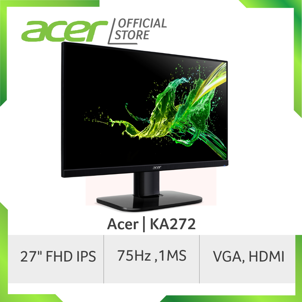 [Pre-Order] Acer KA272 27-Inch FHD IPS Monitor with 1 MS Response Time [ship out early to mid apr]