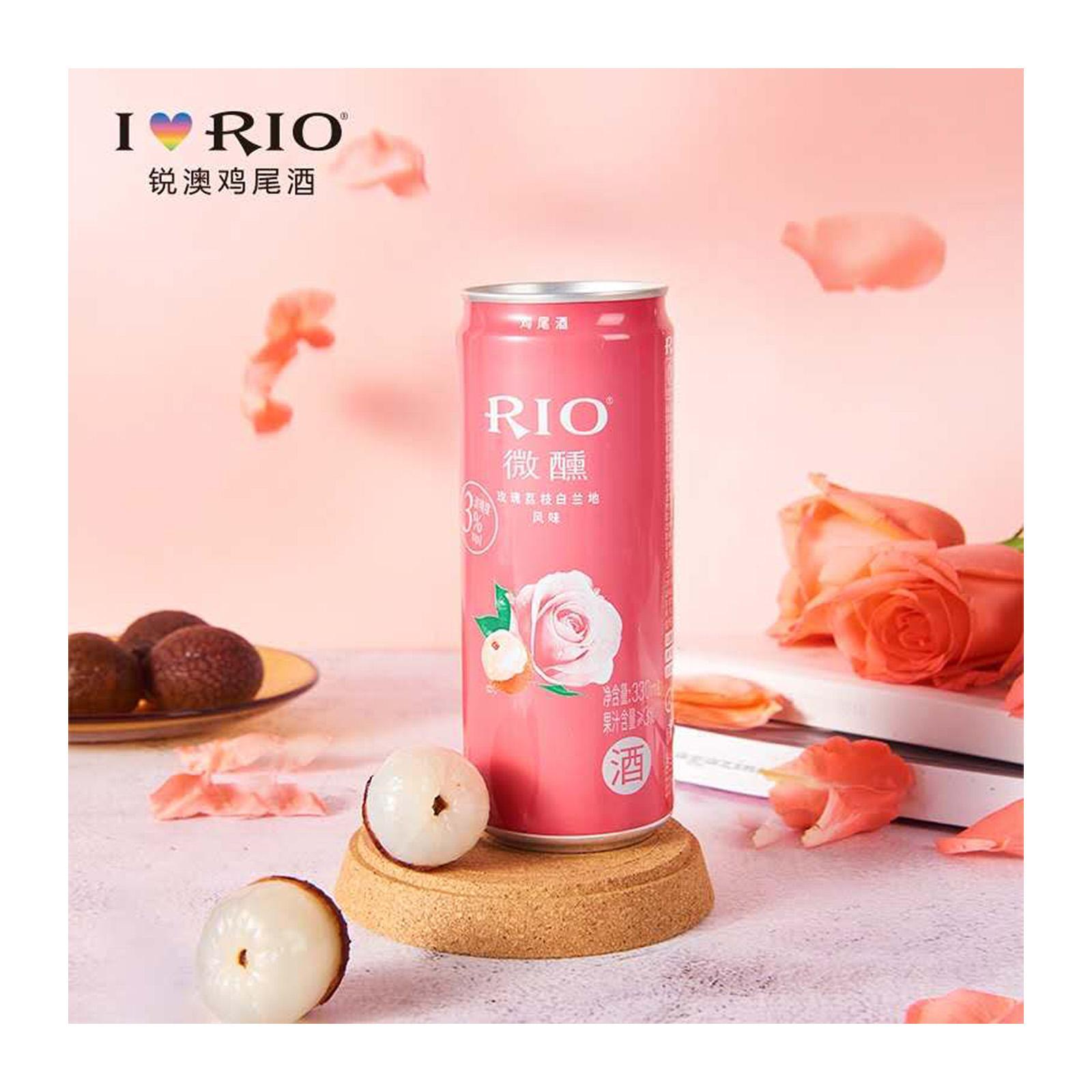 Rio Cocktail Rose Lychee+Brandy 3.0% 330 ML