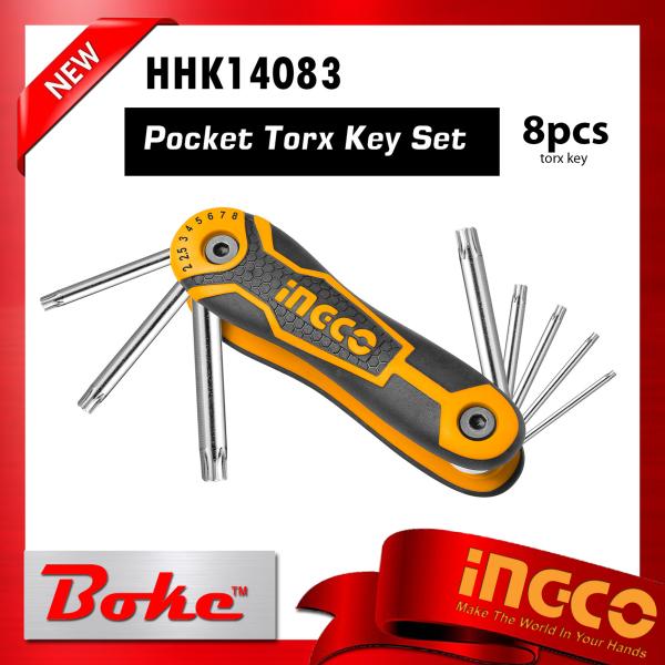 INGCO I-HHK14083 8pcs torx key set( Pocket)Size:T9-T40