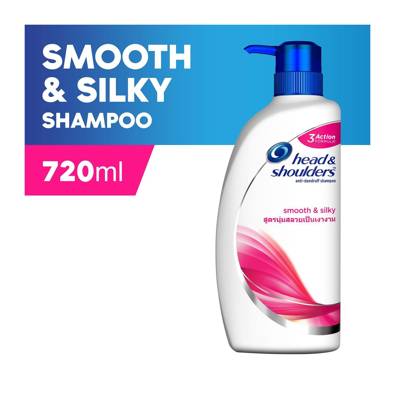 Head & Shoulders Smooth And Silky Anti-Dandruff Shampoo 720ml