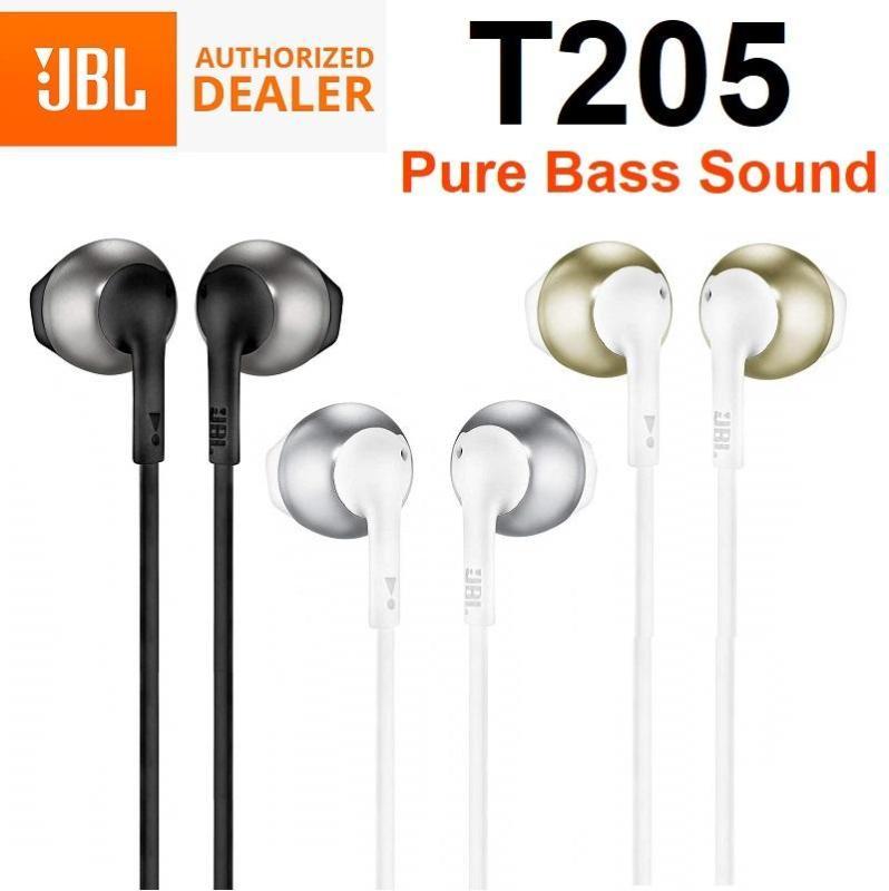 JBL T205 In-Ear Earphone Earpiece Headset Headphones with Mic Tune205 Singapore